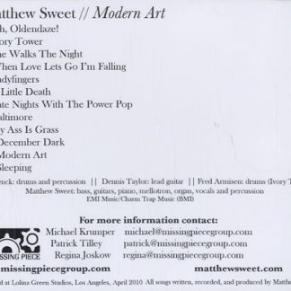Matthew Sweet Pre Modernist Demos From The Archives Hi